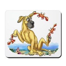 Great Dane Fawn UC Crabby Mousepad