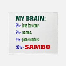 My Brain, 90% Sambo Throw Blanket
