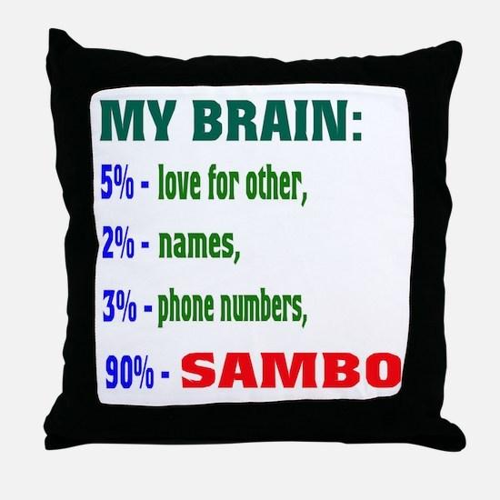 My Brain, 90% Sambo Throw Pillow