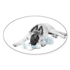 Young Terv Pup Oval Decal