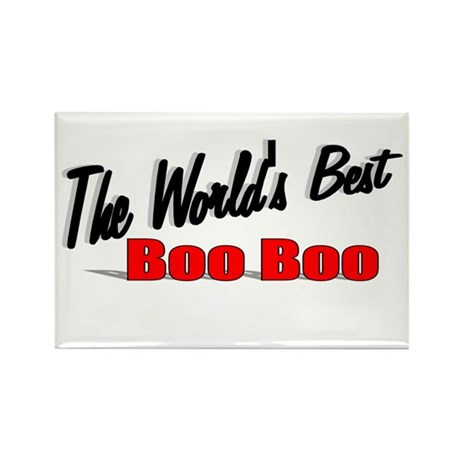 """""""The World's Best Boo Boo"""" Rectangle Magnet"""