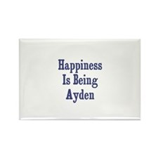 Happiness is being Ayden Rectangle Magnet