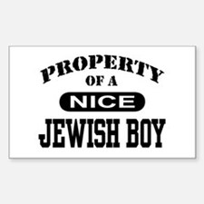 Property of a Nice Jewish Boy Sticker (Rectangular