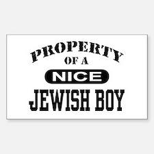 Property of a Nice Jewish Boy Sticker (Rectangular