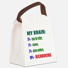 My Brain, 90% Kickboxing Canvas Lunch Bag