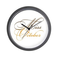 Miss October Beauty Pageant Wall Clock