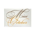 Miss October Beauty Pageant Rectangle Magnet (10 p