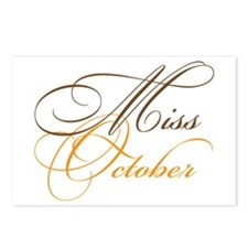 Miss October Beauty Pageant Postcards (Package of