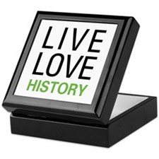 Live Love History Keepsake Box