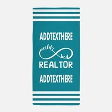 Real Estate Gifts Personalized Infinit Beach Towel