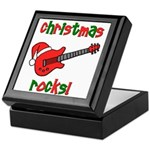 Christmas Rocks! Guitar Santa Keepsake Box