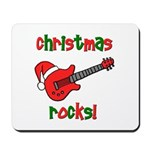 Christmas Rocks! Guitar Santa Mousepad