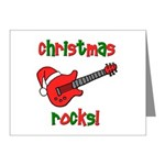 Christmas Rocks! Guitar Santa Note Cards (Pk of 20