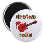 Christmas Rocks! Guitar Santa Magnet