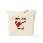 Christmas Rocks! Guitar Santa Tote Bag