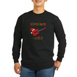 Christmas Rocks! Guitar Santa Long Sleeve Dark T-S