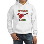 Christmas Rocks! Guitar Santa Hooded Sweatshirt