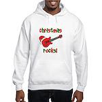 Christmas Rocks! Guitar Santa Hooded Sweatshirt