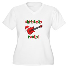 Christmas Rocks! Guitar Santa T-Shirt