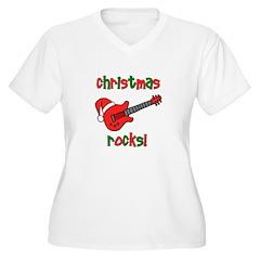 Christmas Rocks! Guitar Santa T-Shirt