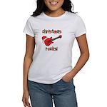 Christmas Rocks! Guitar Santa Women's T-Shirt