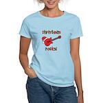 Christmas Rocks! Guitar Santa Women's Light T-Shir