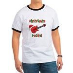 Christmas Rocks! Guitar Santa Ringer T