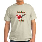 Christmas Rocks! Guitar Santa Light T-Shirt