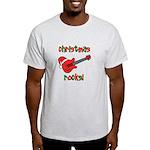 Christmas Rocks! Guitar Santa Light T-Shirt