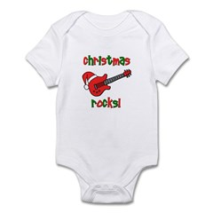 Christmas Rocks! Guitar Santa Infant Bodysuit