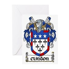 Clinton Coat of Arms Greeting Cards (Pk of 20)