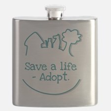 Funny Save a life adopt Flask