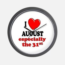 August 31st Wall Clock