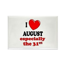 August 31st Rectangle Magnet