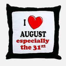 August 31st Throw Pillow