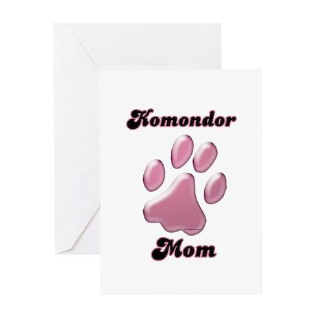 Komondor Mom3 Greeting Card