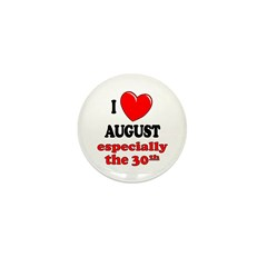 August 30th Mini Button (100 pack)