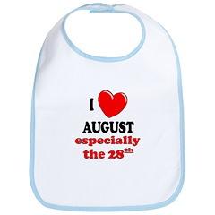 August 28th Bib