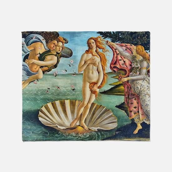 The Birth of Venus - Botticelli Throw Blanket