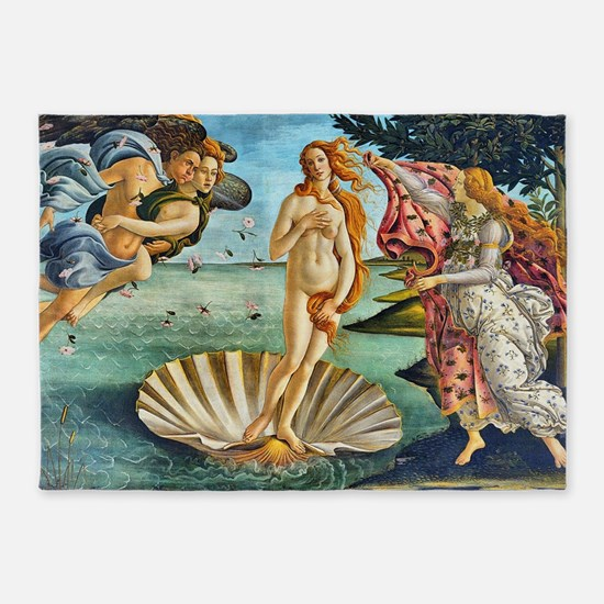 The Birth of Venus - Botticelli 5'x7'Area Rug
