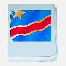 Democratic Republic of the Congo Flag baby blanket