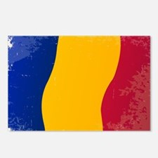 Chad Flag Grunge Postcards (Package of 8)