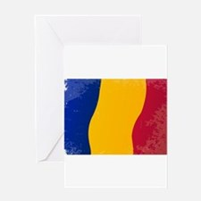 Chad Flag Grunge Greeting Cards