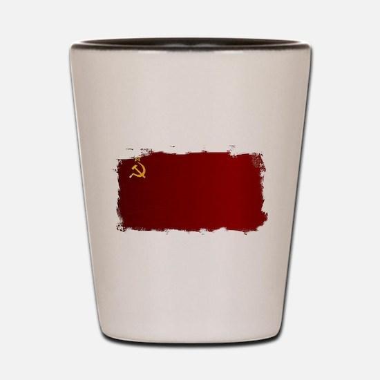 USSR Flag Grunge Shot Glass