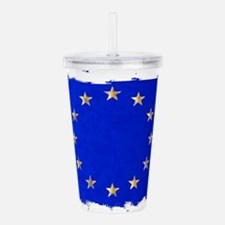 EU Flag Acrylic Double-wall Tumbler