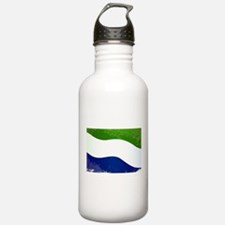 Sierra Leone Flag Grun Water Bottle