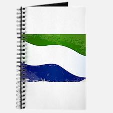 Sierra Leone Flag Grunge Journal