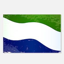 Sierra Leone Flag Grunge Postcards (Package of 8)