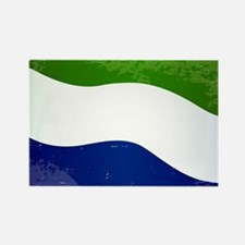 Sierra Leone Flag Grunge Magnets