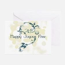 Happy Joyous Free! Greeting Cards